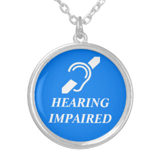 HEARING IMPAIRED ROUND PENDANT NECKLACE