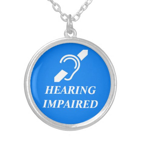 HEARING IMPAIRED SILVER PLATED NECKLACE