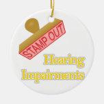 Hearing Impairments Christmas Ornaments