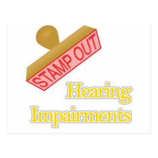 Hearing Impairments Postcard