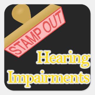 Hearing Impairments Square Sticker