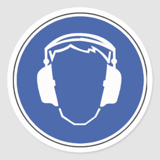 Hearing Protection Safety Sticker