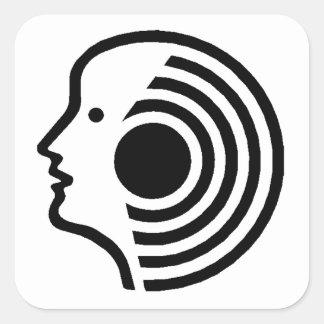Hearing Square Sticker