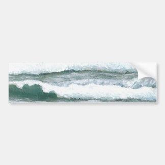 Hearing the Waves Crash - CricketDiane Ocean Art Bumper Sticker
