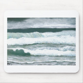 Hearing the Waves Crash Ocean Sea Art Gifts Mouse Pads