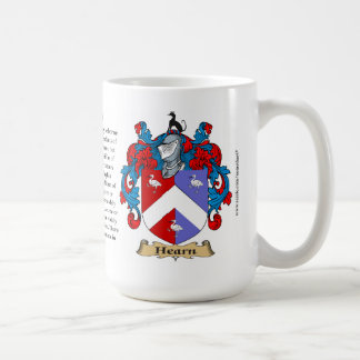 Hearn name, the Origin, the Meaning and the Crest Coffee Mug