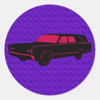 Hearse Round Stickers