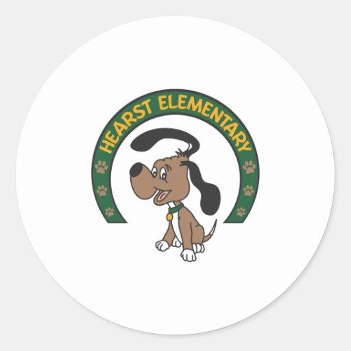 Hearst Elementary Classic Hound Logo Classic Round Sticker