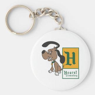 Hearst Elementary Hound Badge Keychain
