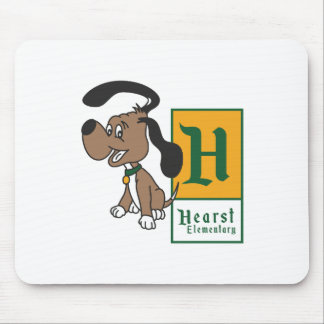 Hearst Elementary Hound Badge Mouse Pad