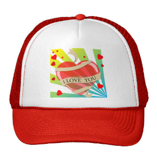 heart11 VECTOR HEART LOVE YOU COLORFUL HAPPY CARIN Trucker Hat