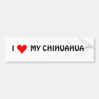 HEART1, I        MI CHIHUAHUA ETIQUETA DE PARACHOQUE