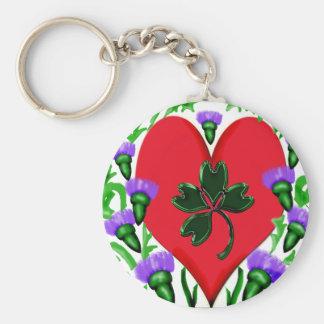 Heart2 Llavero-Irlandés Llavero Redondo Tipo Pin