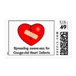 Heart2, Spreading awareness for Congenital Hear... Postage Stamp