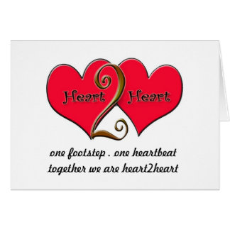 heart2heart  greeting card