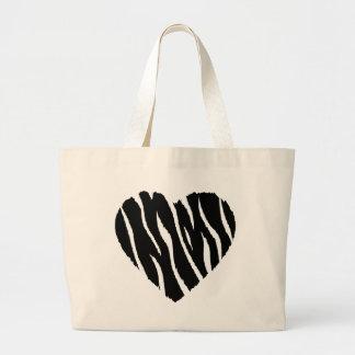 HEART35 ZEBRA HEART SHAPE LOVE GIRLY FUN PARTY BAG