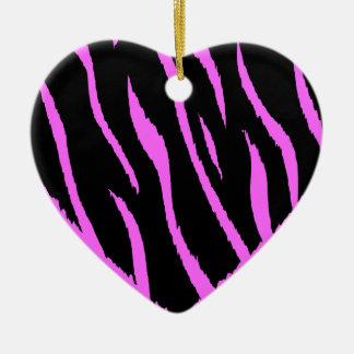 HEART35 ZEBRA HEART SHAPE LOVE GIRLY FUN PARTY CHRISTMAS ORNAMENT