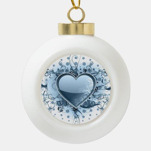 heart-15 adorno de cerámica en forma de bola