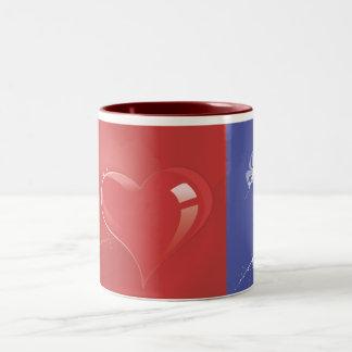 Heart-180.ai Two-Tone Coffee Mug