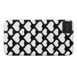 Heart 1 Black and White iPhone 4 Case-Mate Cases