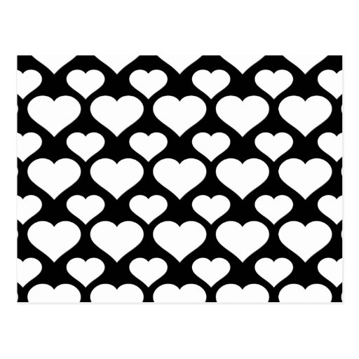 Heart 1 Black and White Postcard