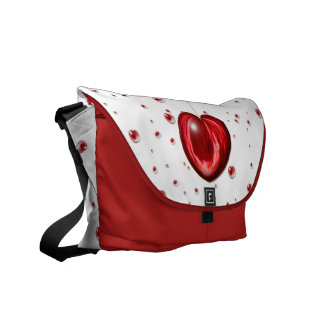 Heart #1 courier bag