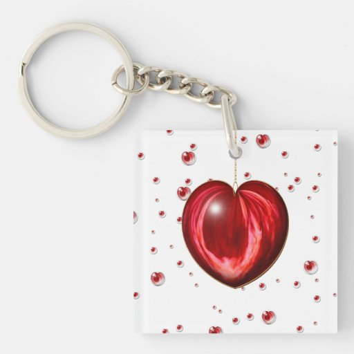 Heart #1 Double-Sided square acrylic keychain