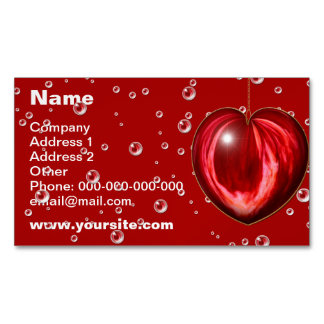 Heart #1 magnetic business card