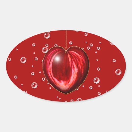 Heart #1 oval sticker