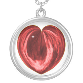 Heart #1 silver plated necklace