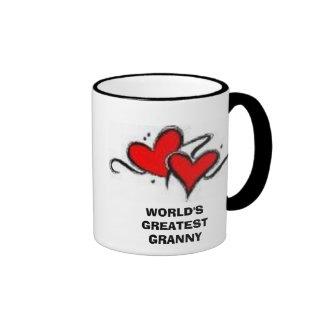 heart#1, WORLD'S GREATEST GRANNY Ringer Coffee Mug