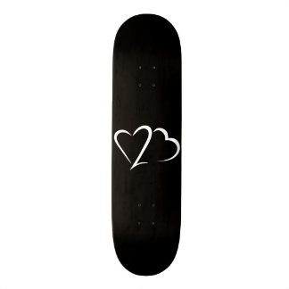 Heart 23™ Black and White Skateboard deck