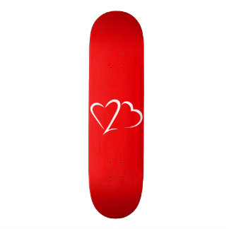 Heart 23™ Red and White Skateboard deck