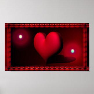 heart-257369 DARK RED BLACK BUBBLY HEART VECTOR BA Poster