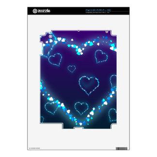 heart-28 DARK BLUE PURPLE FANTASY HEARTS GLITTER Decal For iPad 2