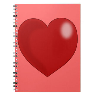 heart-297249  heart love red glossy shiny  CHUBBY Spiral Notebook