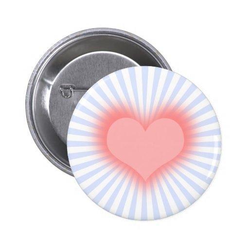 Heart 2 Inch Round Button