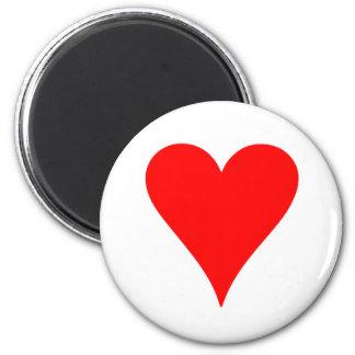 Heart 2 Inch Round Magnet