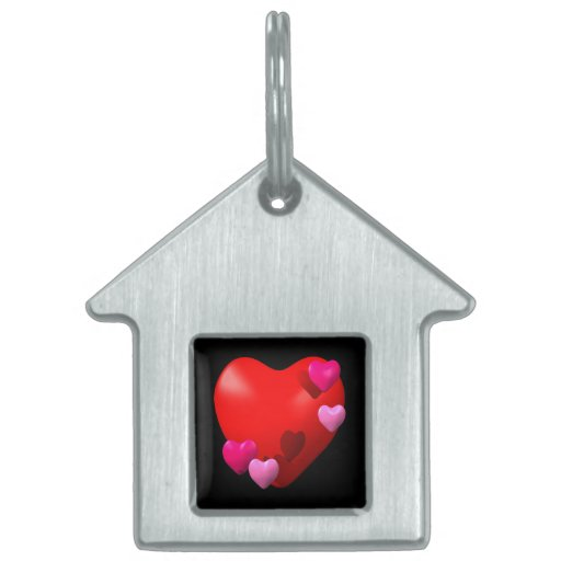 Heart 2 pet ID tags