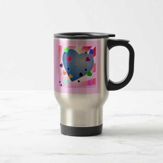 heart-3 GIRLY HEART HEARTS COLORFUL HAPPY LOVE Travel Mug