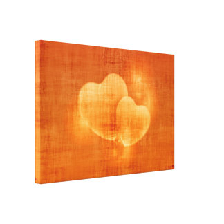 heart-582597  ORANGE HEARTS LOVE BACKGROUNDS WALLP Canvas Print