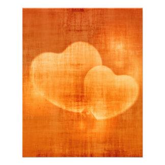 heart-582597  ORANGE HEARTS LOVE BACKGROUNDS WALLP Personalized Flyer