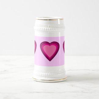 Heart 5 beer stein