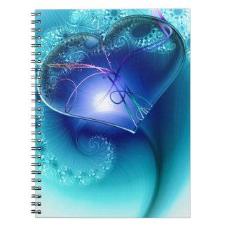 heart-64138 heart fractal fractals romantic playfu note book