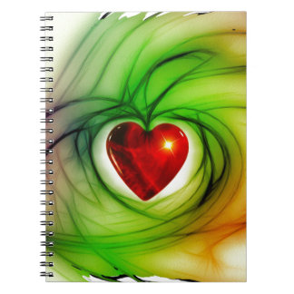 heart-68196 heart love luck abstract relationship spiral note books