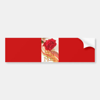 heart-84153  heart red rose flower mother's day lo bumper stickers