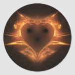 Heart a Fire Classic Round Sticker