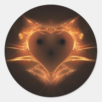 Heart a Fire Classic Round Sticker