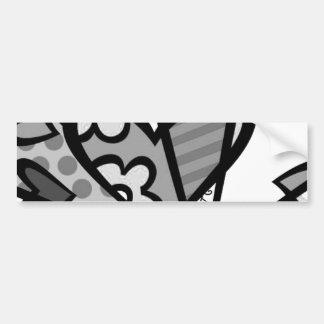 heart abstract art bumper sticker