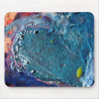Heart Abstract Melted Crayon Collage Mouse Pad